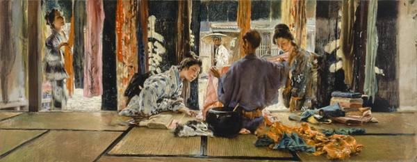 Dress Shop Photograph - The Silk Merchant, Japan, 1892 Oil On Canvas by Robert Frederick Blum