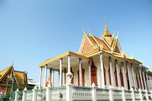 Cambodian Photograph - The Silver Pagoda In Phnom Penh by Karen Hernandez