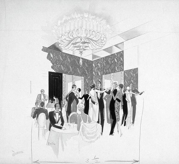 York Digital Art - The Silver Room Of The Casino In Central Park by William Bolin
