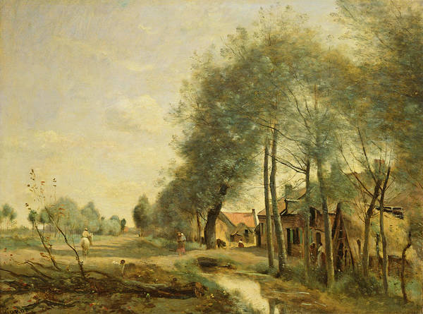 Sin Photograph - The Sin-le-noble Road Near Douai, 1873 Oil On Canvas by Jean Baptiste Camille Corot