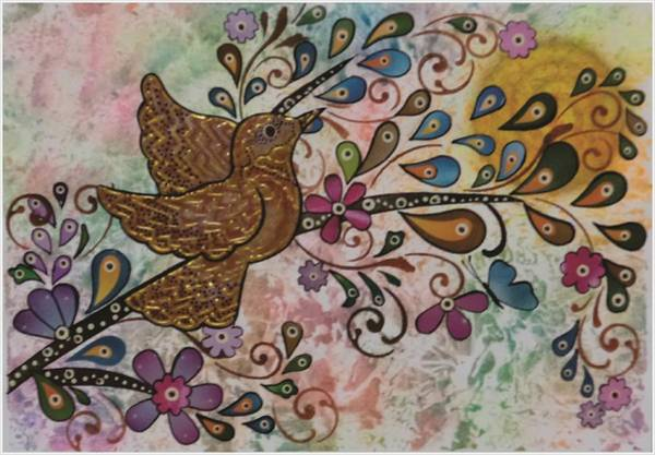 Recycling Painting - The Singing And The Charm by Micaela Pazuello