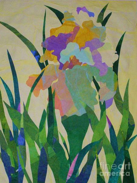 Blades Mixed Media - The Single Iris by Diane Miller