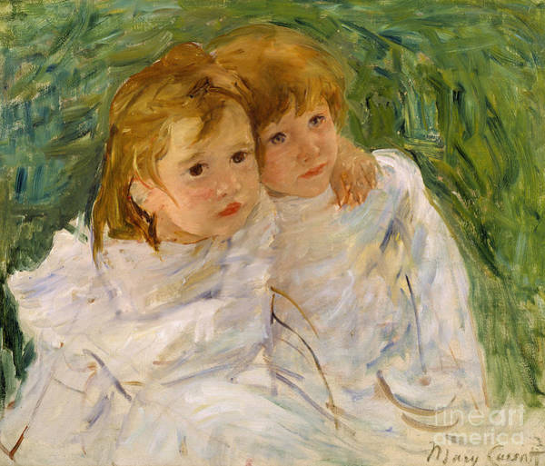 Togetherness Painting - The Sisters by Mary Cassatt