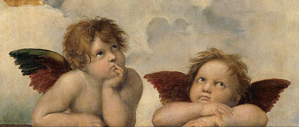 Sistine Wall Art - Painting - The Sistine Madonna. Detail by Raphael