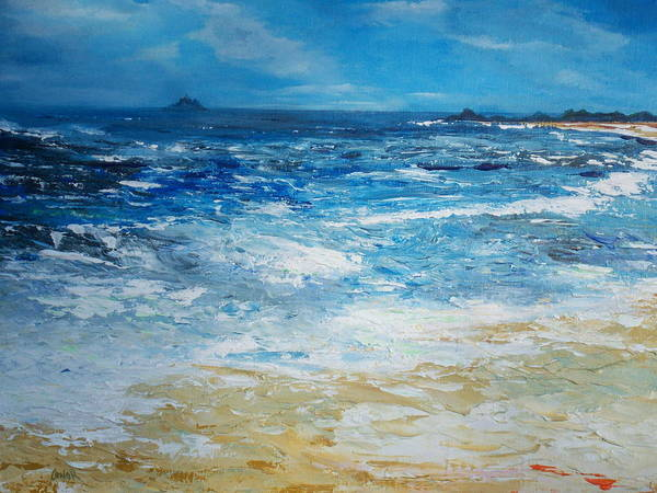 Painting - The Skellig Islands by Conor Murphy