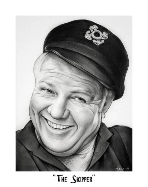 Wall Art - Drawing - The Skipper by Greg Joens