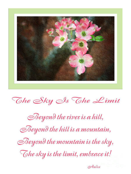 Photograph - The Sky Is The Limit V 12 by Andee Design