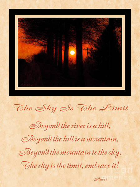 Photograph - The Sky Is The Limit V 2 by Andee Design