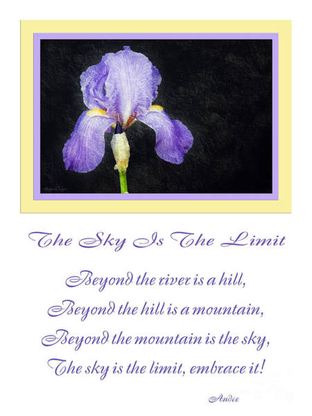Photograph - The Sky Is The Limit V 9 by Andee Design