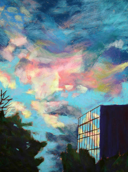 Central Texas Painting - The Sky Reflects by Donna Crosby