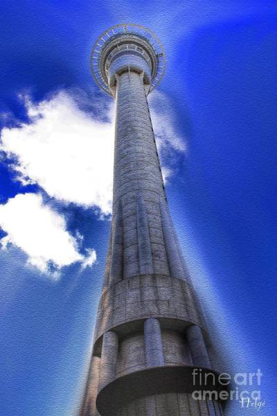 Painting - The Sky Tower by Helge