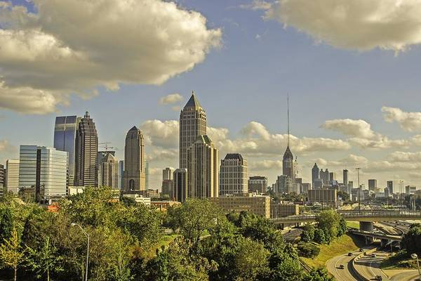 Hotlanta Photograph - The Skyline Of Hotlanta Georgia by Willie Harper