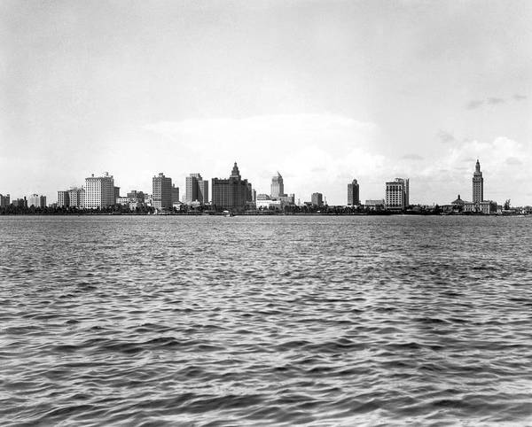 Wall Art - Photograph - The Skyline Of Miami by Underwood & Underwood