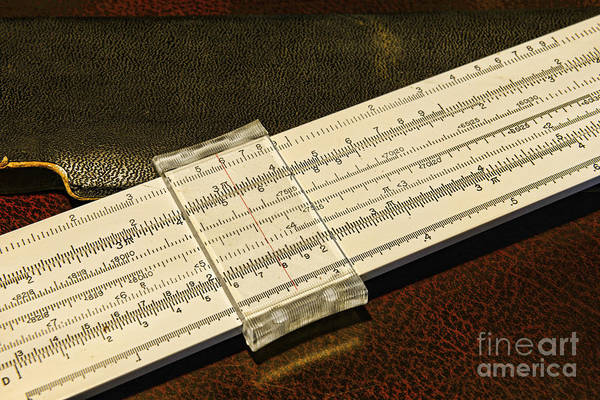 Drafting Photograph - The Slide Rule by Paul Ward