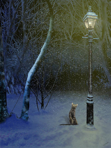 The Snow Cat Art Print