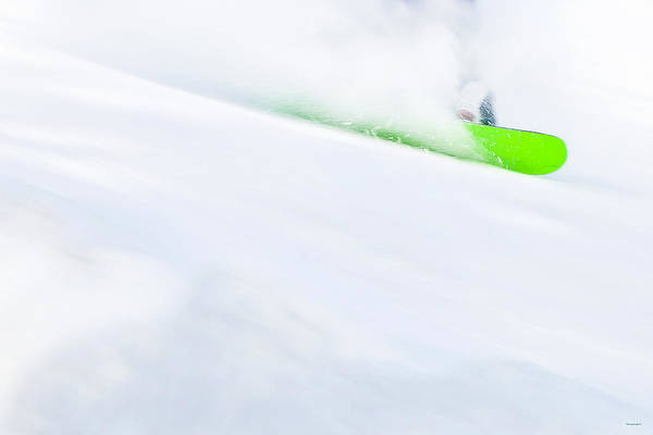 The Snowboarder And The Snow Art Print