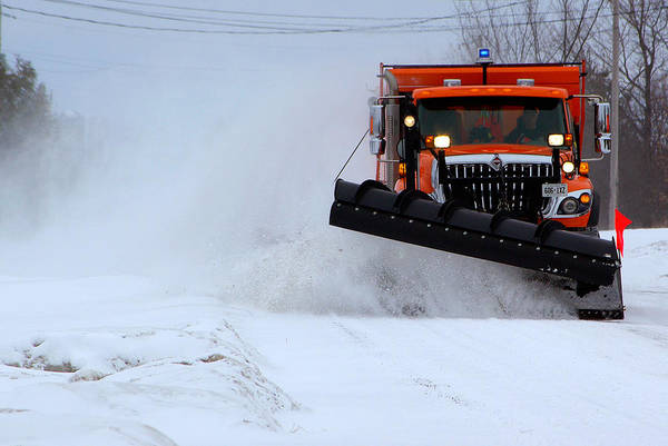 Dump Truck Photograph - The Snowplow Cometh by Paul Wash