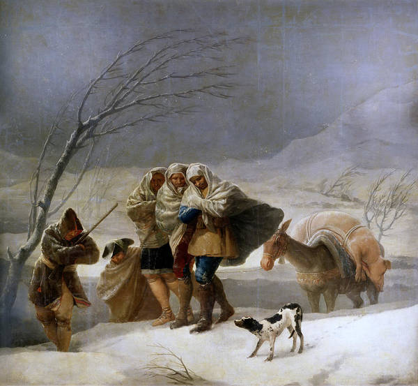 The Walking Dead Painting - The Snowstorm. Winter by Francisco Goya