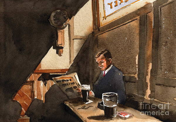 Painting - The Snug by Val Byrne
