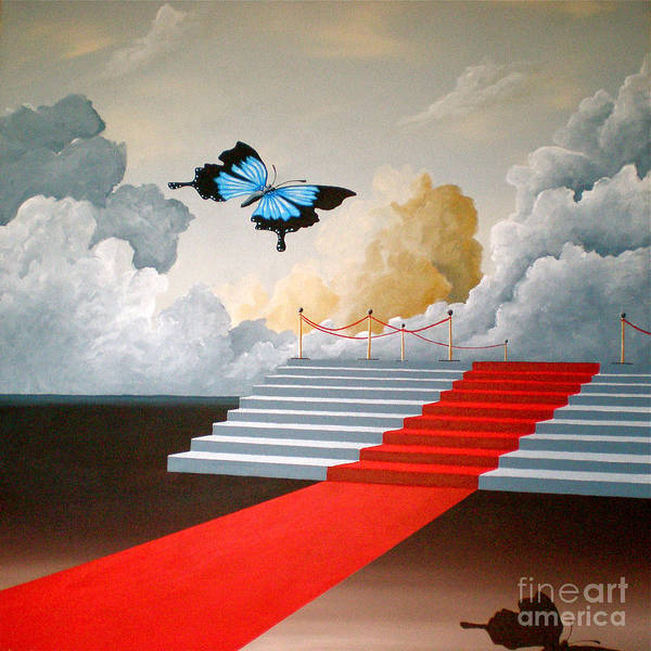 Painting - The Social Butterfly by Ric Nagualero