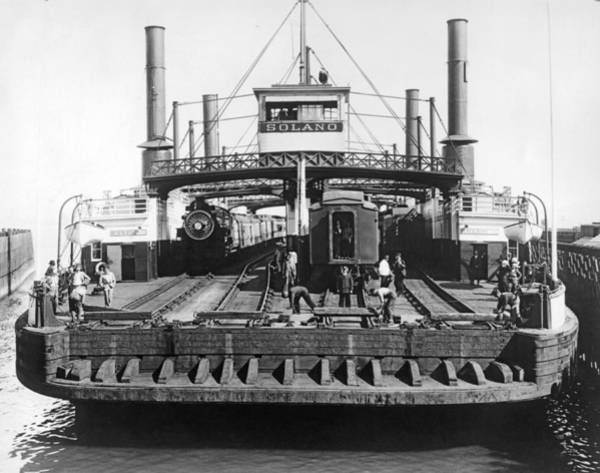 Wall Art - Photograph - The Solano Ferry by Underwood Archives