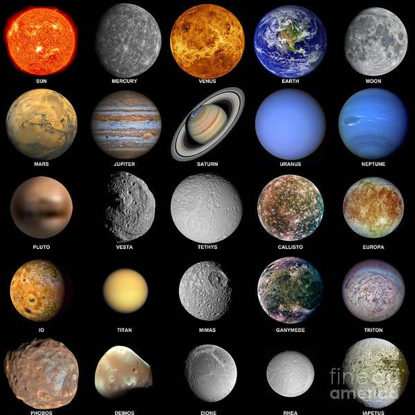 Dione Photograph - The Solar System by Antony McAulay