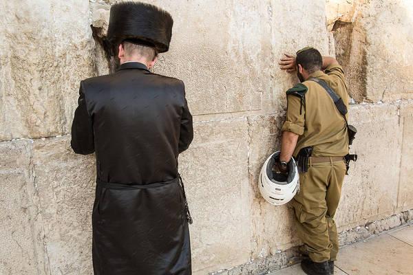 Hasidim Wall Art - Photograph - The Soldier And The Hassid by Mason Resnick