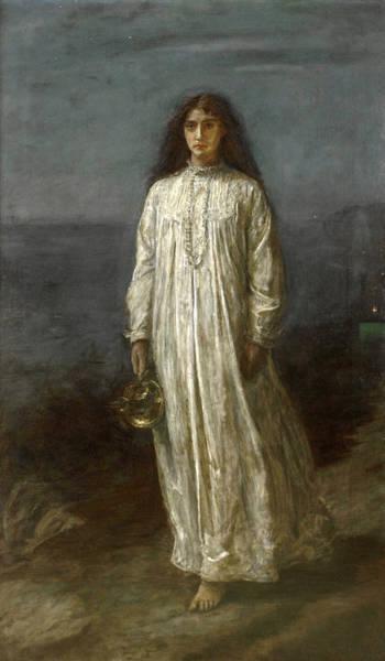 Millais Painting - The Somnambulist by John Everett Millais