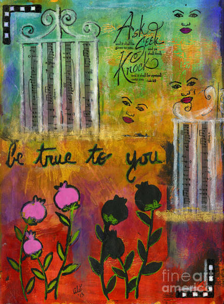 Wall Art - Mixed Media - The Song Of My Own Belief by Angela L Walker