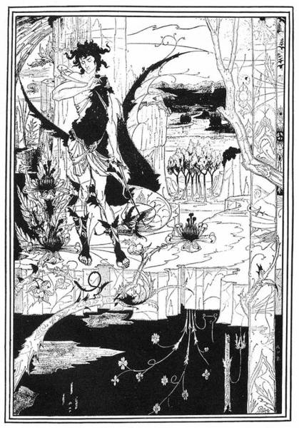 Beardsley Drawing - The Song Of The Nibelungs by Mary Evans Picture Library