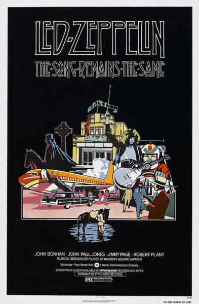 Led Zeppelin Photograph - The Song Remains The Same, Us Poster by Everett