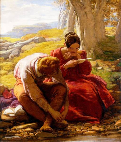 Poetry Painting - The Sonnet, C.1839 by William Mulready