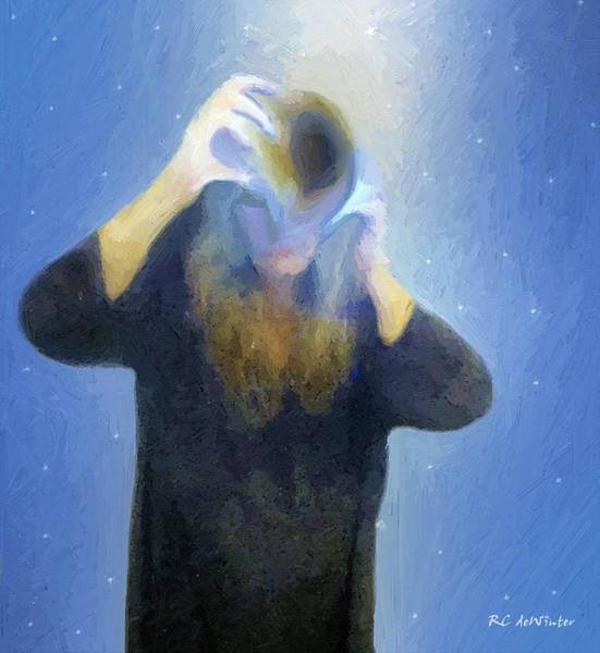Painting - The Sorceress Unmasks by RC DeWinter