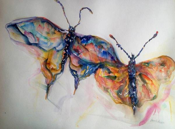 Merge Painting - Under My Wing by Beverly Bronson