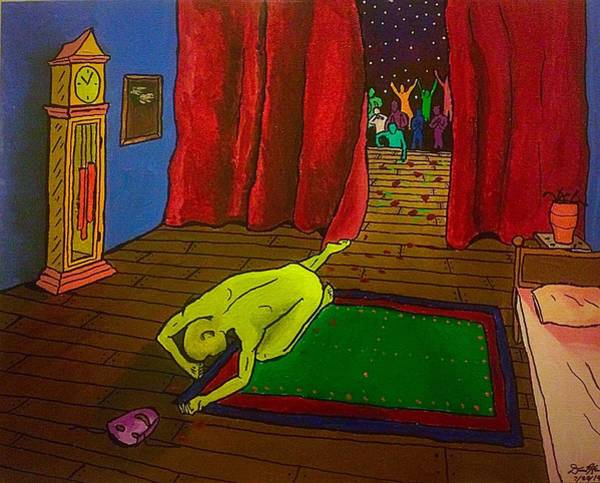 Grandfather Clock Painting - The Soul's Intermission by David Hannah