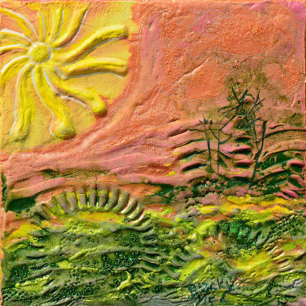 Wall Art - Painting - The Sound Of Sunshine by Donna Blackhall