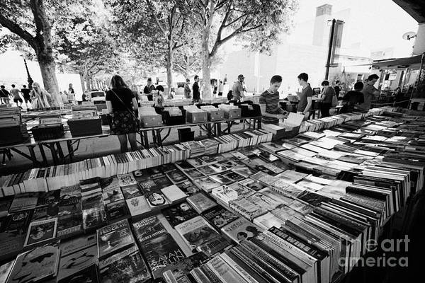 Southbank Photograph - the southbank centre book market London England UK by Joe Fox
