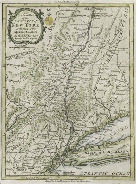 Territory Painting - The Southern Part Of The Province Of New York by Thomas Kitchin