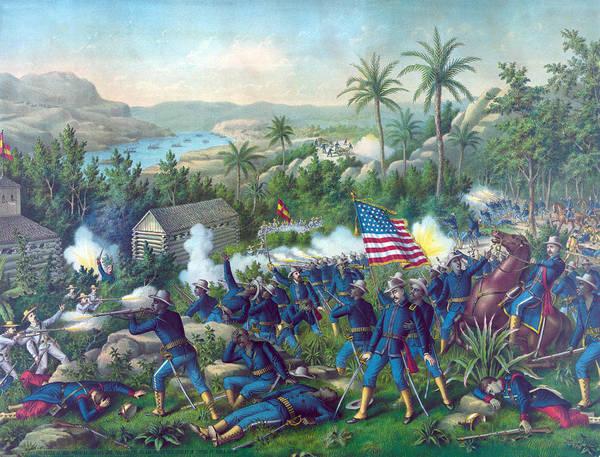 Wall Art - Photograph - The Spanish American War. The Battle by Everett