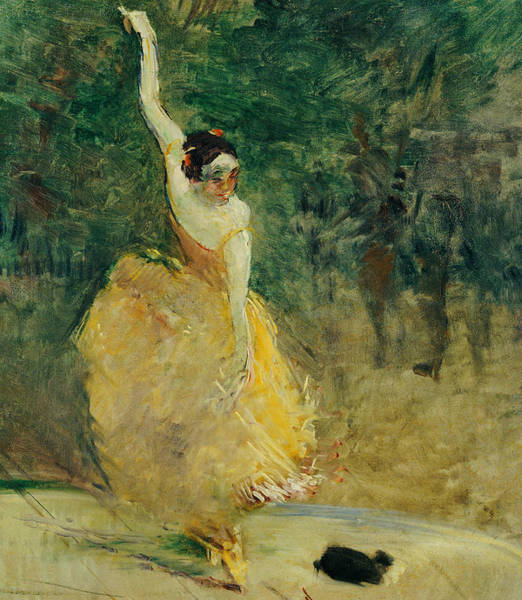 Latino Painting - The Spanish Dancer by Henri de Toulouse-Lautrec
