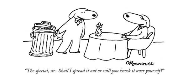 Trash Drawing - The Special by Charles Barsotti