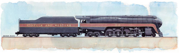 Norfolk Southern Wall Art - Painting - The Spirit Of Roanoke by George Evans