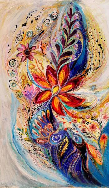 Kabbalistic Wall Art - Painting - The Splash Of Life 5 by Elena Kotliarker