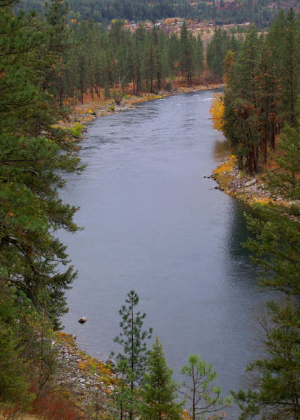 Photograph - The Spokane River In The Fall Colors 2 by Ben Upham III