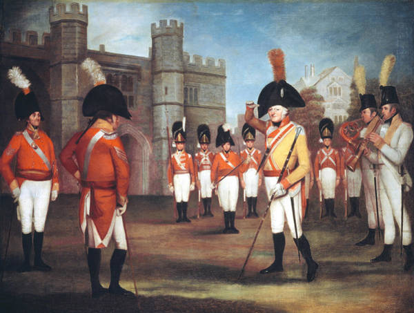 Trumpeter Painting - The Staffordshire Militia On Parade by Arthur William Devis
