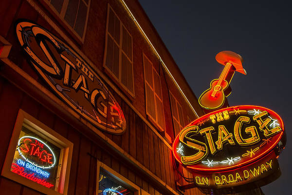 Photograph - The Neon Stage by Glenn DiPaola