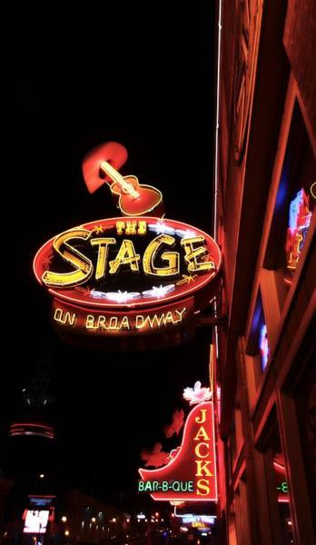 Wall Art - Photograph - The Stage On Broadway In Nashville by Dan Sproul