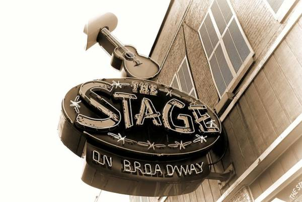 Photograph - The Stage On Broadway Nashville Tennessee by Dan Sproul