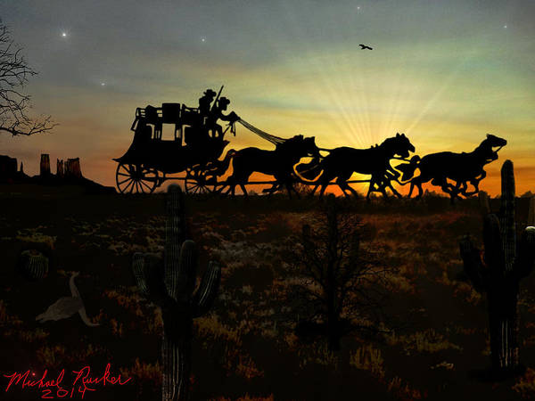 Digital Art - The Stagecoach by Michael Rucker