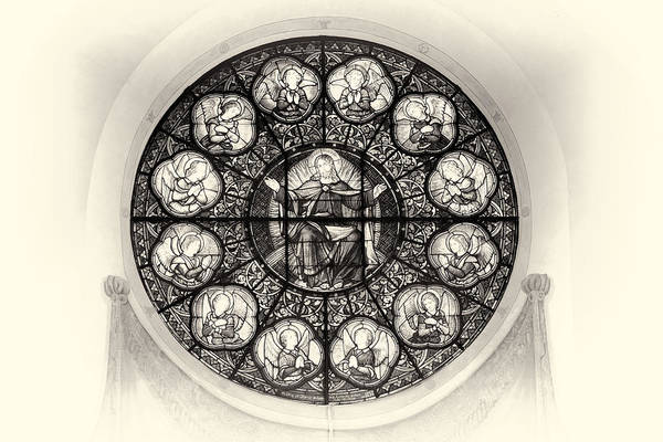 Photograph - The Stained Glass At Stockholm Cathedral - Storkyrkan - Sweden by Photography  By Sai